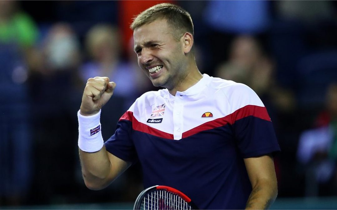 BBC TENNIS: Davis Cup play-off GB v Uzbekistan – Best shots as Dan Evans beats Denis Istomin in epic match
