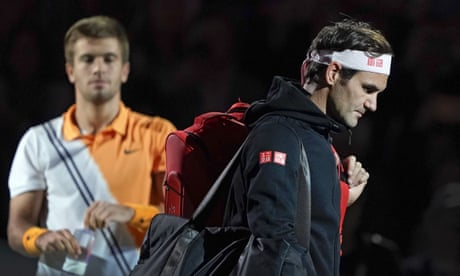 GUARDIAN TENNIS: 'He was better than me' – Federer falls in Shanghai against Coric – video