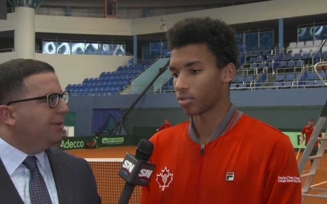 SPORTSNET TENNIS: What happened to Auger-Aliassime after starting first set up 5-2?