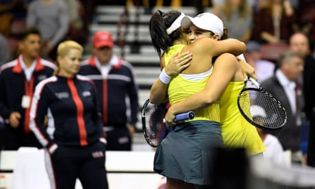 GUARDIAN TENNIS: Ashleigh Barty-led Australia knock US out of Fed Cup