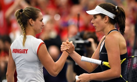 GUARDIAN TENNIS: Johanna Konta's tough win against Hungary seals Fed Cup play-off spot