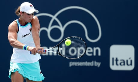 GUARDIAN TENNIS: Ashleigh Barty moves to within one win of top 10 after Miami victory