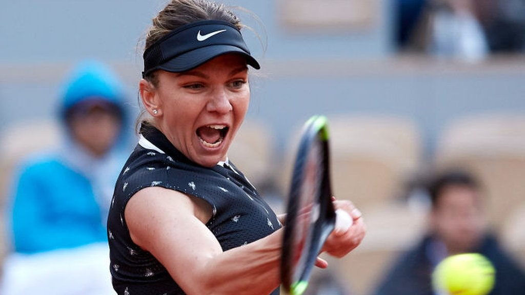 BBC TENNIS: French Open: Simona Halep and Serena Williams reach third round at Roland Garros