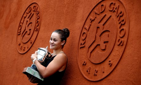 GUARDIAN TENNIS: 'A joy to watch': Ashleigh Barty French Open success sparks flood of support