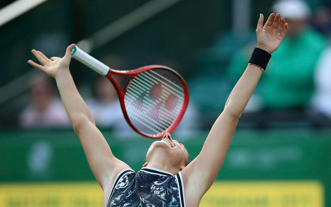 SPORTSNET TENNIS: Garcia outlasts Vekic to win Nottingham Open