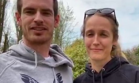 GUARDIAN TENNIS: Andy Murray and wife Kim 'call out tennis community' to join lockdown challenge – video